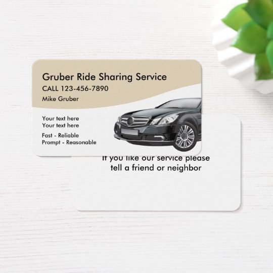 Ride Sharing Transportation Service Business Card