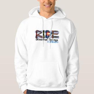 Ride Steamboat Springs Colorado snowboard hoodie