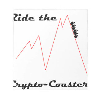 Ride the Crypto Coaster Notepad