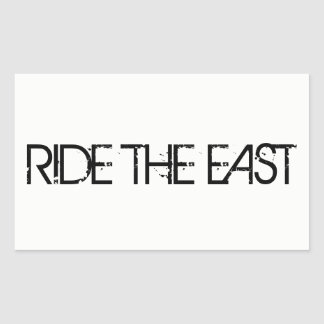 Ride The East Rectangular Sticker