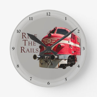 Ride the Rails Round Clock