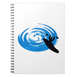 Ride the Rapids Spiral Notebook