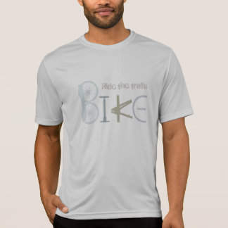 """""""Ride the Trails"""" Quote Bike of Bike Parts T-Shirt"""