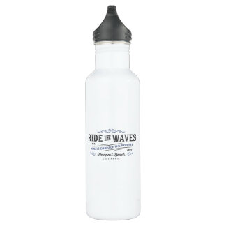 Ride The Waves Water Bottle