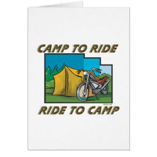 Ride to Camp Greeting Cards