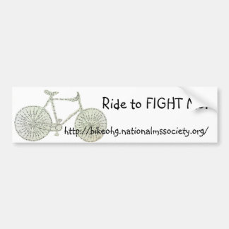 Ride to FIGHT MS! Bumper Sticker