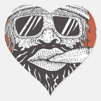 Ride To Live Heart Sticker