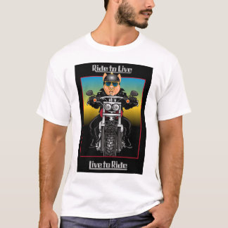 Ride to Live...Live to Ride - Hog Biker T-Shirt