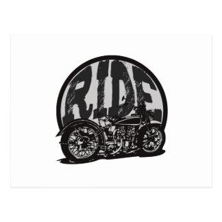 Ride Vintage Motorcycle Post Cards