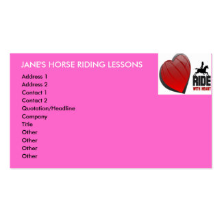 RIDE WITH HEART BUSINESS CARD