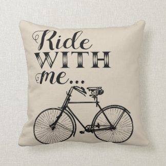 Ride with Me Vintage Pillow