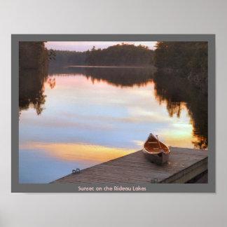 Rideau Lakes - Canoe Poster