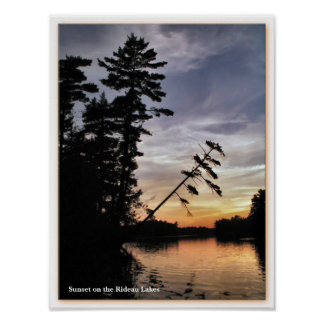 Rideau Lakes Sunset - Eastern Ontario Poster