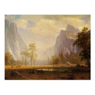 Rider at Lake in Canyon Painting Postcard