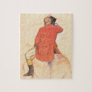 Rider in a Red Coat by Edgar Degas Jigsaw Puzzle