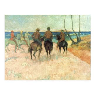 Rider on the Beach - Paul Gauguin Postcard