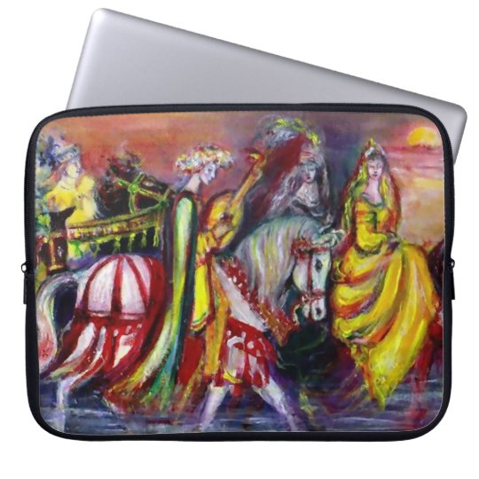 RIDERS IN THE NIGHT LAPTOP SLEEVE