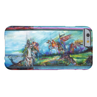 RIDERS IN THE STORM Medieval Knights Blue Barely There iPhone 6 Case