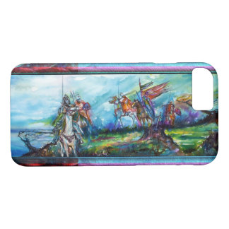 RIDERS IN THE STORM Medieval Knights Blue iPhone 8/7 Case