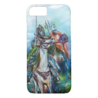 RIDERS IN THE STORM Medieval Knights Horseback iPhone 8/7 Case