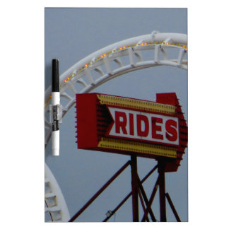 Rides and Roller Coaster Dry-Erase Whiteboard