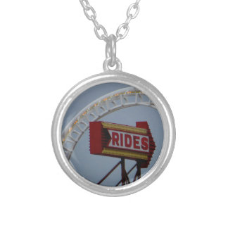 Rides and Roller Coaster Silver Plated Necklace