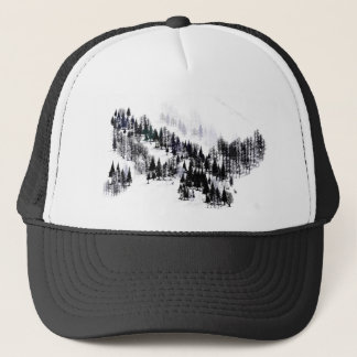 Ridge of trees trucker hat