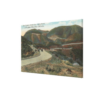 Ridge Route to Swede's Cut & Bakersfield Stretched Canvas Print