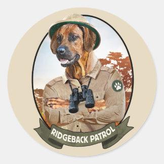 """Ridgeback Sticker - """"Ridgeback Patrol """""""
