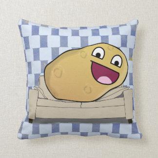 Ridiciously Happy Cartoon Couch Potato Cushion