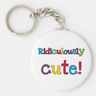 Ridiculously Cute Basic Round Button Key Ring