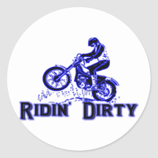 Ridin Dirty Classic Round Sticker