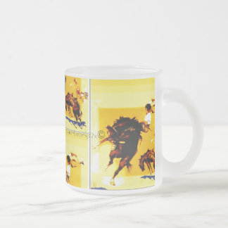 """Ridin' High"" Frosted Glass Coffee Mug"