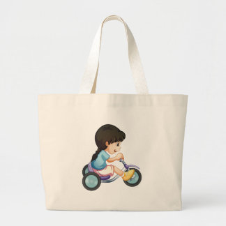 riding along jumbo tote bag