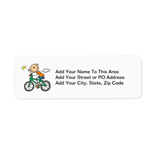 Riding Bicycle - Male Return Address Label