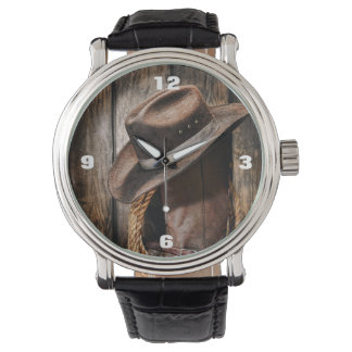 Riding Boots and Cowboy Hat Wristwatches