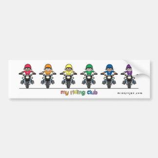 Riding Club Bumper Sticker