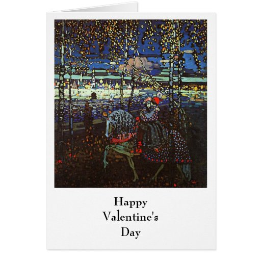 Riding Couple, Wassily Kandinsky 1907 Greeting Card
