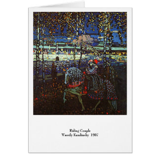 Riding Couple, Wassily Kandinsky 1907 Card