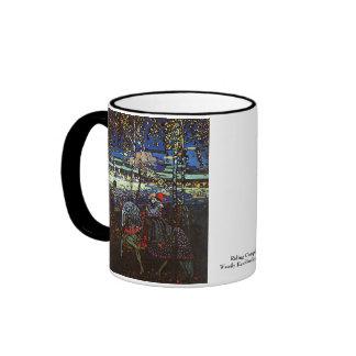 Riding Couple, Wassily Kandinsky 1907 Ringer Coffee Mug