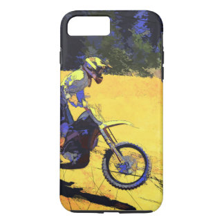 Riding Hard! - Motocross Racer iPhone 8 Plus/7 Plus Case