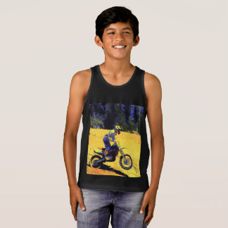 Riding Hard! - Motocross Racer Singlet