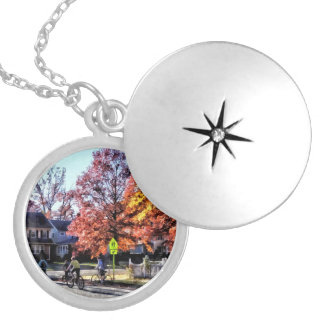 Riding Home From School Locket Necklace