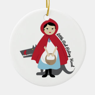 Riding Hood Round Ceramic Decoration