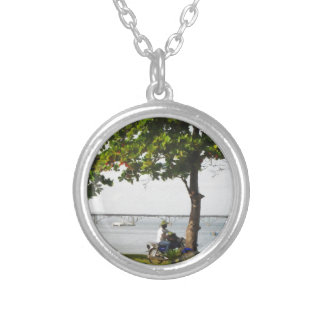 Riding in the Caribbean Silver Plated Necklace