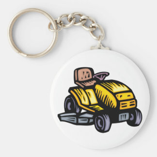 Riding Lawn Mower Keychain