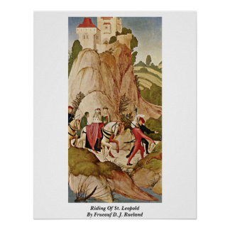 Riding Of St. Leopold By Frueauf D. J. Rueland Poster