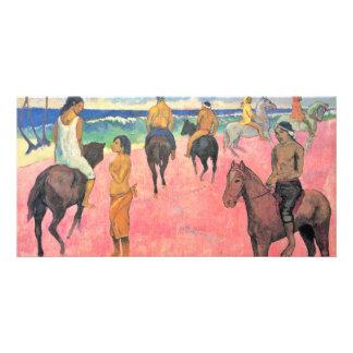 Riding On The Beach By Gauguin Paul (Best Quality) Custom Photo Card