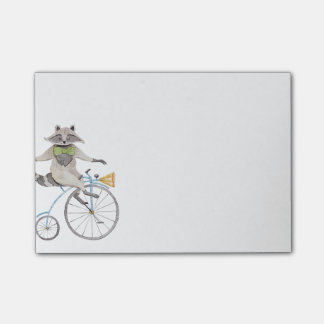 Riding Racoon Post-it® Notes