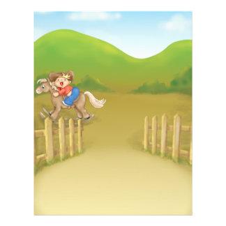 riding rocking little cowboy boy 21.5 cm x 28 cm flyer